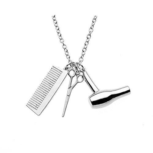 Collar con tijeras y peine, para peluqueras