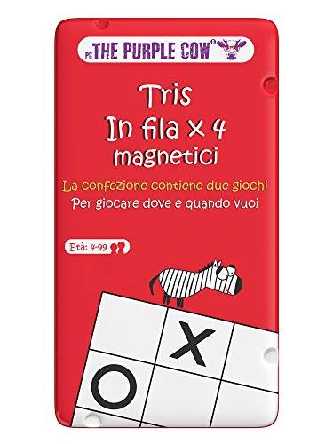 Purple Cow- Tris. in Fila x 4 magnetici Gioco, 7290016026849