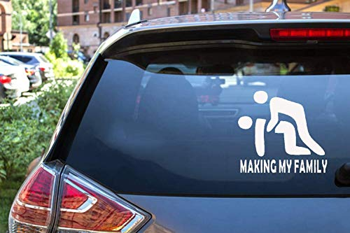 ytedad Car Decal Stickers Car Decal Car Sticker Funny Sticker New Making My Family Stick Figure Vinyl Decals Funny Windows Stickers Cool 13X12Cm