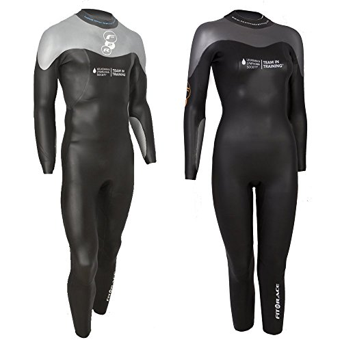 Fit2Race Kids Youth Triathlon Wetsuit - F2R Sockeye Fullsleeve Unisex (S1, Black)