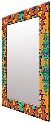 999Store Printed Multicolor Triangles Pattern Mirror