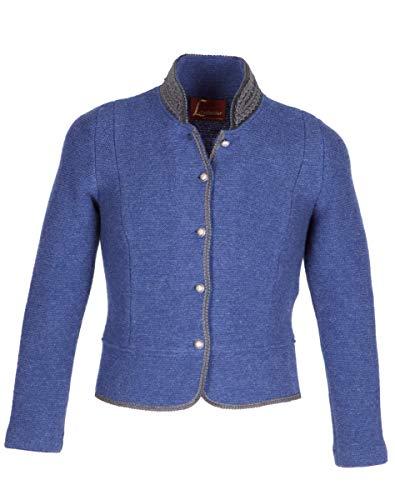 Litzlfelder 1975 9438 Damen Strickjacke Jeansblau Größe 44