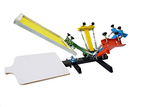 Upgrade Version Screen Printing Press 4 Color 1 Station Screen Printing Press Machine Screen Printing Press Kit