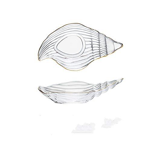 Platos De Postre Pequeñas placas de vidrio y cuencos con conjunto con plato de la placa de la placa de la placa de la placa de la placa de la placa de la placa de la placa de la joyería del océano de