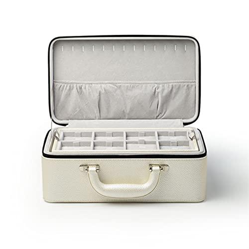 JSJJAUJ Schmuckkästchen Pu/Samt 3-Lagen Schmuck Aufbewahrungskoffer for Ohrringe Armband Anhänger Halskette Box Schmuck Organizer Geschenk (Color : Set-15)