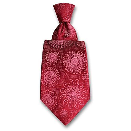 Robert Charles. Cravate. Astoria, Soie. Rose, Paisley. Fabriqué en Italie.