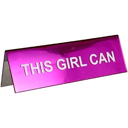 Girl Boss Pink Novelty Desk Plate