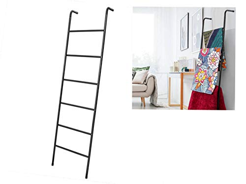 Blanket Ladder Wall-Leaning Decorative Ladder Tall Towel Drying and Display Rack