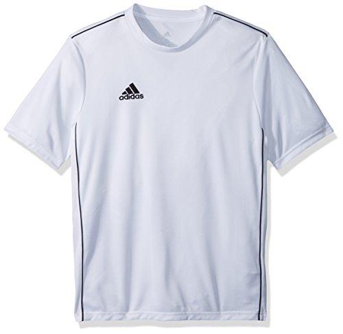 adidas unisex-child Juniors' Core 18 Training Soccer Jersey White/Black ,Large