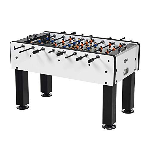 Hall of Games Phoenix 56 Inch Outdoor Foosball Table, Black/Silver