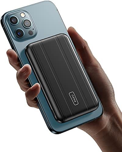 INIU Magnetic Wireless Power Bank 10000mAh, PD 20W Fast Charging USB C Externe Handyakkus, 7,5W Wireless Charging Powerbank für iPhone 13 12 Samsung Galaxy S22 Huawei Xiaomi Android mehr.