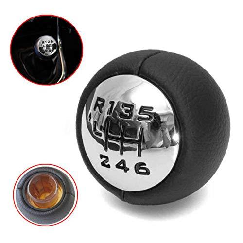 TOOGOO Perilla de Cambio de Marchas Negro 6 Velocidad para Peugeot 307 308 3008 407 5008 807