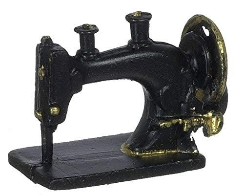 Melody Jane Puppenhaus Zubehör Miniatur Nähmaschine Schwarz 61