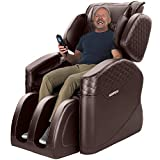KASPURO N500 Pro Massage Chair, Massage Chairs Full Body and Recliner, Zero Gravity Massage Chair, Airbags Shiatsu Massage Chair Recliner with Lower Back Heating and Foot Roller (Brown)