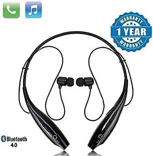 Techfire HBS 730 Wireless Neckband Bluetooth Earphone Headset Earbud Portable Headphone Handsfree Sports Running Sweatproo...