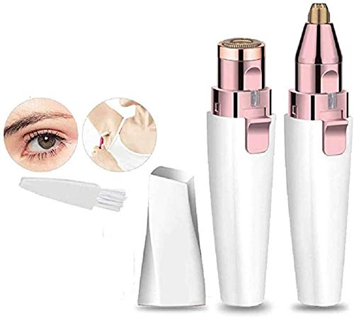YYZHAO Facial Trimmers For Nose And Brows Shaver Razor,2-in-1 Painless Eyebrow Razor Electric Lady Epilator 9.15