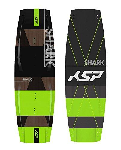 KSP TAVOLA Shark Green Freestyle Completa da Kitesurf 135/137/139/141 Kite Board (141x43)