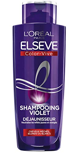 acheter avis L'Oréal Paris Elseve Violet De-Yellowing Shampoo – Pour cheveux blonds ou gris – Color-Vive – 200 ml