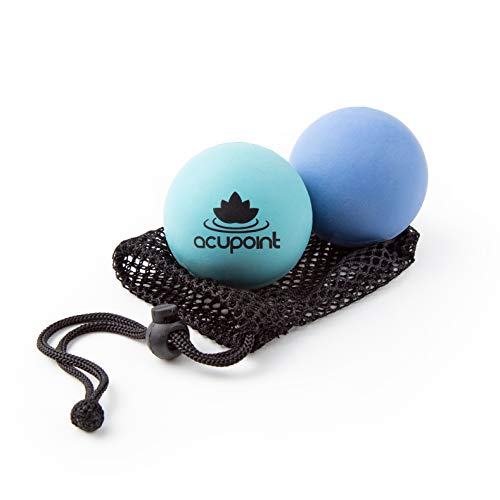 Big Save! Acupoint Physical Massage Therapy Balls – Ideal for: Yoga, Deep Tissue Massage, Trigger Point Therapy and Self Myofascial Release Physical Therapy Equipment