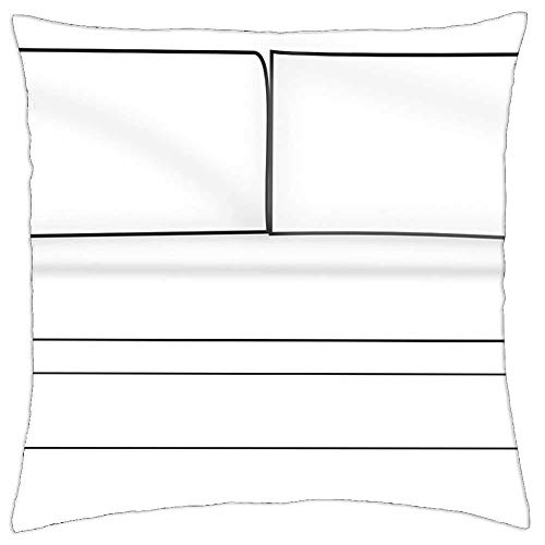 LESGAULEST Throw Pillow Cover (16x16 inch) - Sofa Couch Seat Sit Furniture Home Room Interior