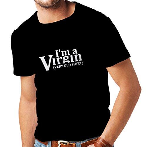 lepni.me Męski T-shirt Ich Bin eine Jungfrau, bardzo stara koszula. Dorośli humor, sexy status