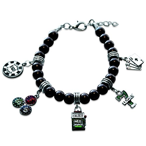 Whimsical Gifts Casino Charm Bracelet in Silver