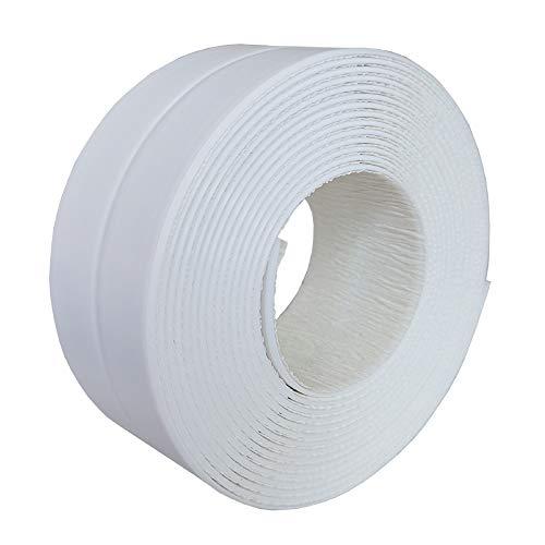 Badewannendichtband, wasserdichtes selbstklebendes Wannendichtband, für Bad, Küche, Wanne ,Wand Bodenversiegelung, Leiste, Weiß