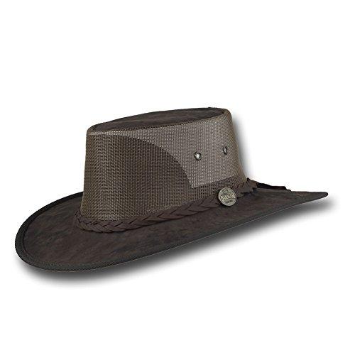 Barmah Hats Kangaroo Cooler Leather Hat 1038HS / 1038BC - Brown Crackle - Large