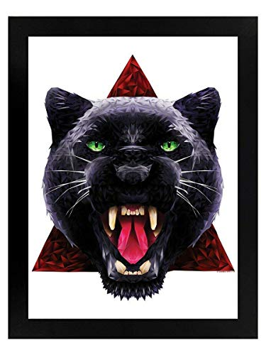 Aperiy Unorthodox Collective Geometric Panther Vintage Style Tin Sign Metal Sign Metal Decor Wall Sign Wall Poster Wall Decor Door Plaque TIN Sign 12'x8' Inch