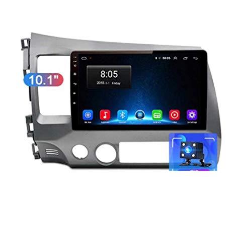 Radio de coche Android 8.1, GPS, pantalla táctil de 9 pulgadas, para Honda Civic 2006 – 2011, con control en el volante, Bluetooth, manos libres, enlace DAB USB, MP5 SWC, 4G + WIFI1G + 16G