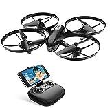 Potensic Drone avec Caméra HD【Expédié de DE】 et Télécommande RC Quadcopter WiFi FPV 2.4Ghz 6-axe Gyro - Maintien d'altitude, Mode sans Tête, Décollage/Atterrissage à Une Touche 3 Vitesses Réglage