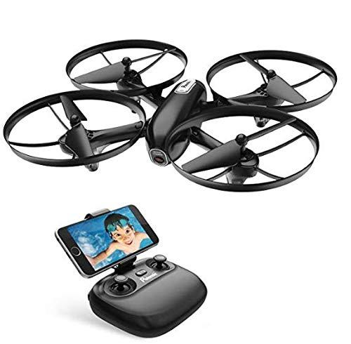 Potensic Drohne WiFi FPV RC Quadrocopter mit 720P HD Kamera, Live Übertragung, Höhe-Halten, Kopflos Modus, 3 Speed, Eine Taste Start/Landung, Ideal für Änfanger und Kinder (U47)
