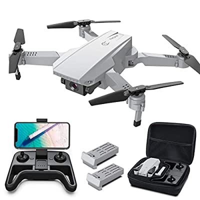 Tomzon D25 Mini Drone FPV Foldable RC Drone with 4K Camera for Beginners, RC Quadcopter with Gesture Control, Path Flight, 3D Flips, Headless Mode, 24 Mins Flight, 2 Batteries with Carrying Case