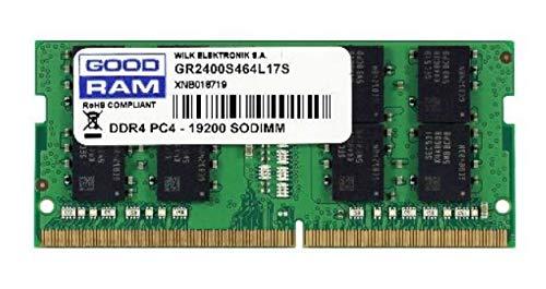 Goodram GR2400S464L17S/8G módulo de - Memoria (8 GB, 1 x 8 GB, DDR4, 2400 MHz, 260-pin SO-DIMM, Verde)