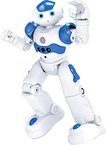 T2O Transformers Kids - Intelligente Smart Roboter - Programmierbares Spielzeug Gestensteuerung, KI, Laufen, Reden, Tanzen, Singen - Lebendiger Ferngesteuerter Roboter (Blue)
