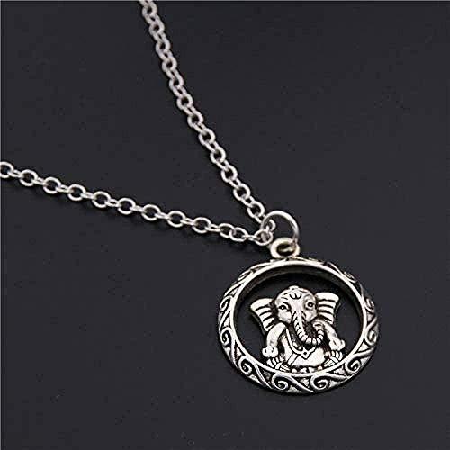 N-G Necklace Modern Popular Exquisite Necklace Buddha Statue Pendant Round Cross Chain Short Length Men s Women s Silver