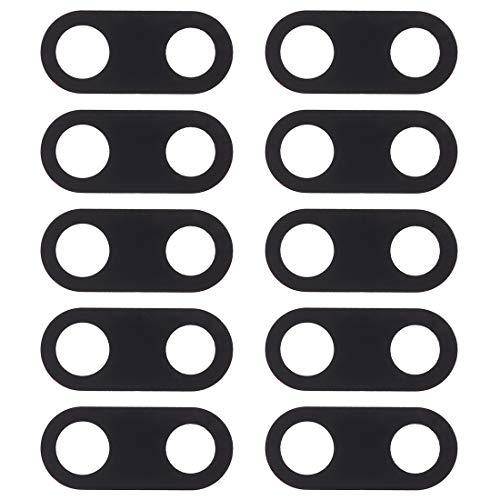 HMG 10 PCS Copriobiettivo Fotocamera Posteriore for Nokia 3 (Nero) (Color : Black)