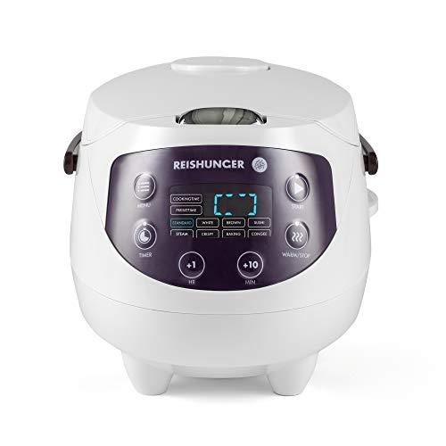 Reishunger Mini arrocera (0.6l/350W/220V) Hervidor de arroz con 8...