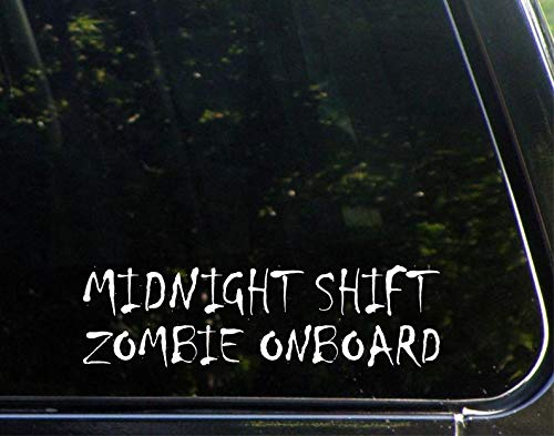 yyone Car Sticker Car Window Decal Midnight Shift Zombie Onboard Car Decal Bumper Sticker for Auto Cars Trucks Walls Windows Laptops Vinyl Decal