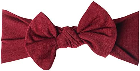 Baby Stretchy Soft Knit Headband Bow Ruby by Copper Pearl product image