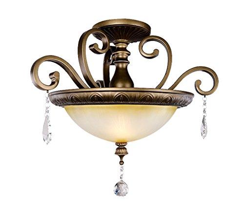 Home mall- Lampe de plafond de fer européen Retro Chambre Restaurant Corridor Lumière 50 * 46 cm E27 * 3