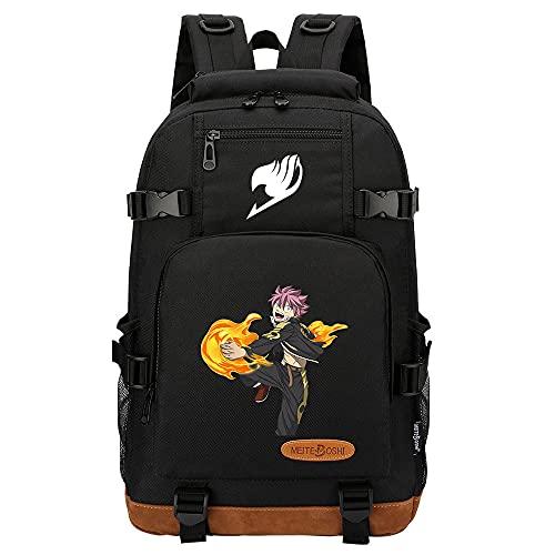 SHU-B Fairy Tail Moda Mujer Bolsa de Hombro con Cremallera Ligera Bolso Totalizador Bolso de Bandolera Grande Bolsa de Compras Impermeable Bolsa de Mano para Trabajo Yoga Playa Vida Diaria Escuela