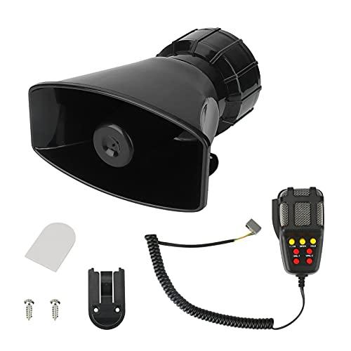 Yideng Bocina de sirena para automóvil, amplificador de sonido de emergencia de...