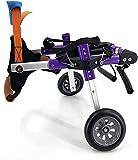 S-easy Adjustable Dog Wheelchair for Hind Legs Rehabilitation, Wheelchair for Back Legs Lightweight