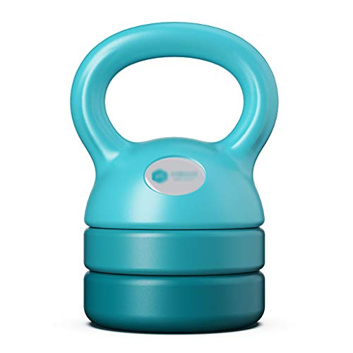 WMQ Fitness Kettlebell , Kettlebell Gewichtsset, einstellbares Gewicht, 5-12 LB (2,3-5,4 kg), grün