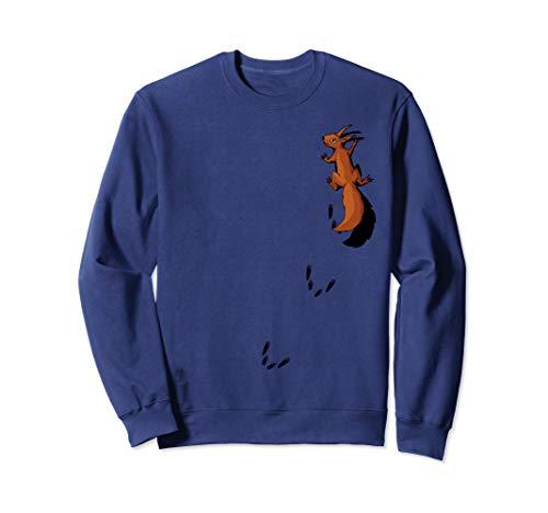Nagetier mit Spuren | kletterndes Eichhörnchen Sweatshirt