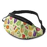 Hdadwy Waist Pack - Verduras Ensalada de Frutas Tazón Grande Riñonera Cinturón Deportivo Riñonera Bolsa de Hombro Riñonera Saco de Cadera para Senderismo Correr Viajar Rave