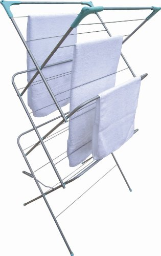 Style Worx 3-Tier Airer with Non-Slip Feet and Heavy Duty Construction, Space Saving Function Folds...