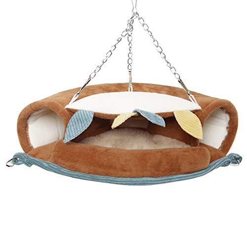 Balacoo Transpirable Y Portátil Mascota Hámster Colgante Cama de Dormir Hamaca Pequeños Animales Casa Jaula Nido Accesorios