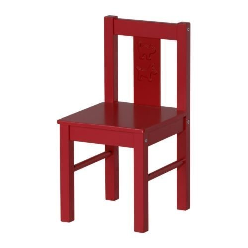 IKEA KRITTER - Silla infantil, color rojo rojo